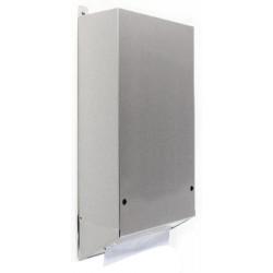 Dispensador de toallas de papel empotrado detrás del espejo dispensador visible