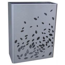 Papelera de acero inoxidable de 25L montada en el suelo o en la pared