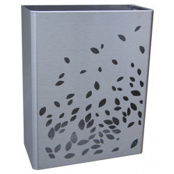 Waste receptacle design stainless steel 25L to be placed on floor or wall
