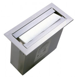 Stainless steel hand paper towel dispenser counter-top recessed or vertically