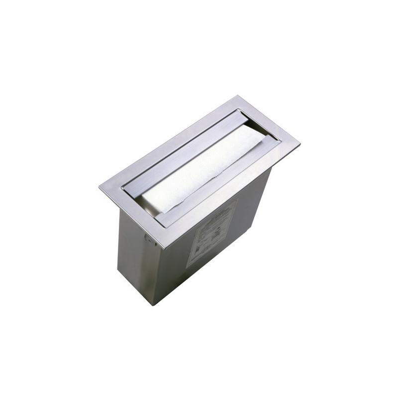 Photo Dispensador de toallas de papel de acero inoxidable para instalar sobre una superficie de trabajo o en vertical sobre un mueble BO-526