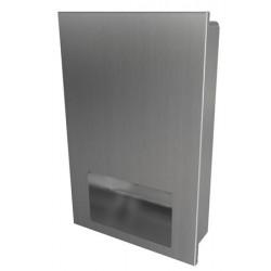 Dispensador de toallas de papel de acero inoxidable, antivandálico y de diseño