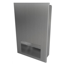 Paper towel dispenser in stainless steel recessed vandal proof and design