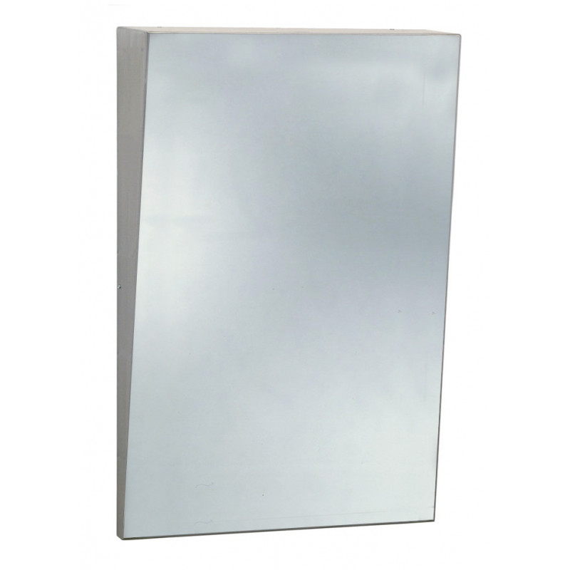 Photo PRM mirror inclined in stainless steel ESP-010