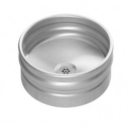 Wash basin to be placed stainless steel design beer keg