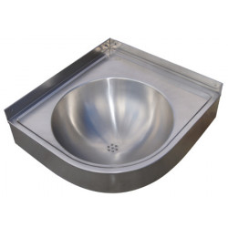 Lavabo esquinero de acero inoxidable con mueble 40 mm