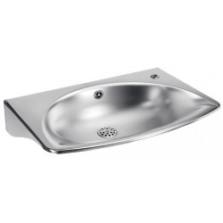Wall mounted wash basin mural design stainless steel