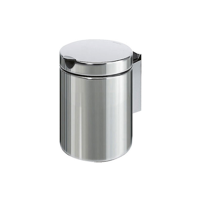 Photo Mini waste bin wall fixation stainless steel 3L with lid V46-4-M