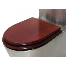 Mahogany WC wooden aspect toilet seat and lid
