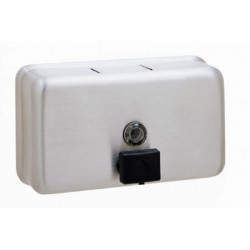 Soap dispenser on bracket horizontal VEGA brushed finish