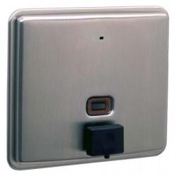 Dispensador de jabón incorporado en acero inoxidable cepillado NOVA recargable