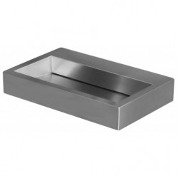 Fregadero de acero inoxidable de diseño con desagüe invisible