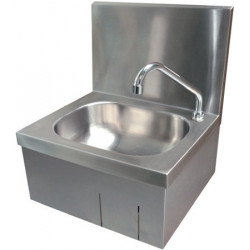 Hand wash stainless steel mural hygienic knee control