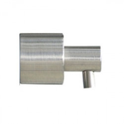 Recessed soap dispenser mural push brushed or polished finish