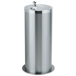 Fuente de agua sobre columna de acero inoxidable para colectividades