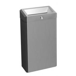 Cubo de basura ELITE de acero inoxidable cepillado, montado en la pared o en el suelo, con tapa