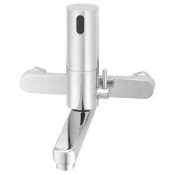 Electronic faucet with mixing tap wall mounted AKWARENO with movable spout