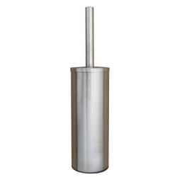 Escobillero de acero inoxidable con tapa para instalar o montar en la pared