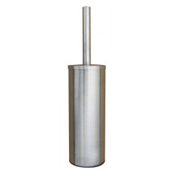 Toilet brush holder stainless steel with lid floor or wall mounted