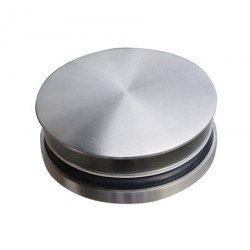 Brushed stainless steel washbasin plug with free-flow design
