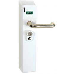 Cerradura con monedas para el control de acceso a los aseos, duchas, etc.