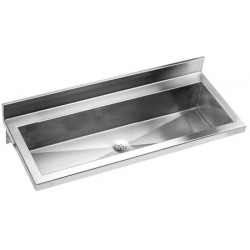 Wash basin stainless steel collective wall mounted vandal-proof