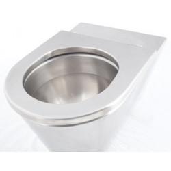 Asiento individual de acero inoxidable antivandálico para taza de acero inoxidable