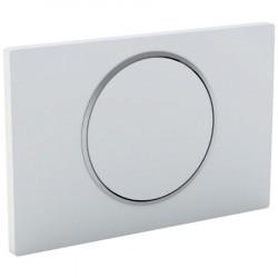 Placa de desbloqueo del inodoro blanco