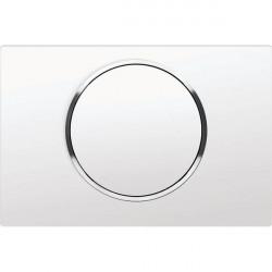 Miniature-1 Plaque simple touche blanche pour WC SUPKJ1