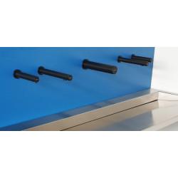 Miniature-4 Robinetterie automatique savon - eau - air RONDEO finition noir mat SM-20