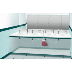 Centralized soap dispensing for SUPRATECH electronic dispensers