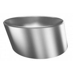 Vanity bowl to be placed design stainless steel PISA