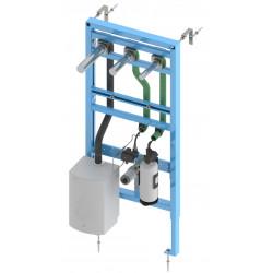 Bâti-support lavabo RONDEO TRIO, avec robinet électronique eau, distributeur de savon et sèche-mains intégrés