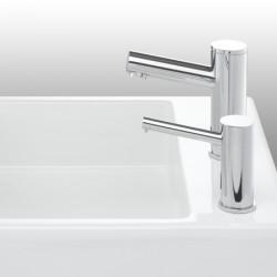 Miniature-1 Distributeur savon à détection infrarouge ELITE design assorti robinet RES-72