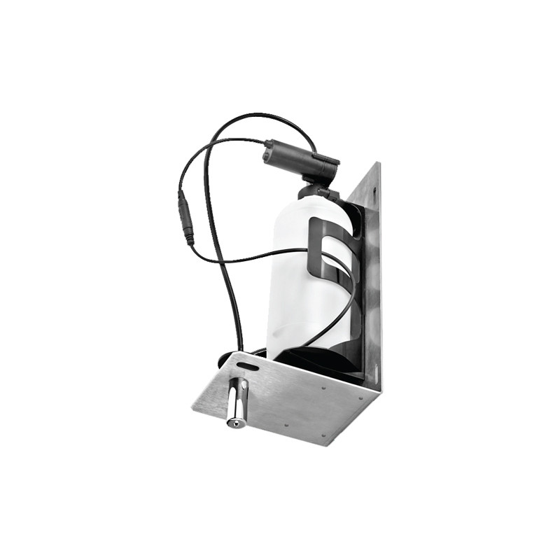 Photo Distributeur de savon encastrable derrière miroir automatique infrarouge RES-48