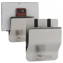 Tablet computer or bag wall holder in stainless steel