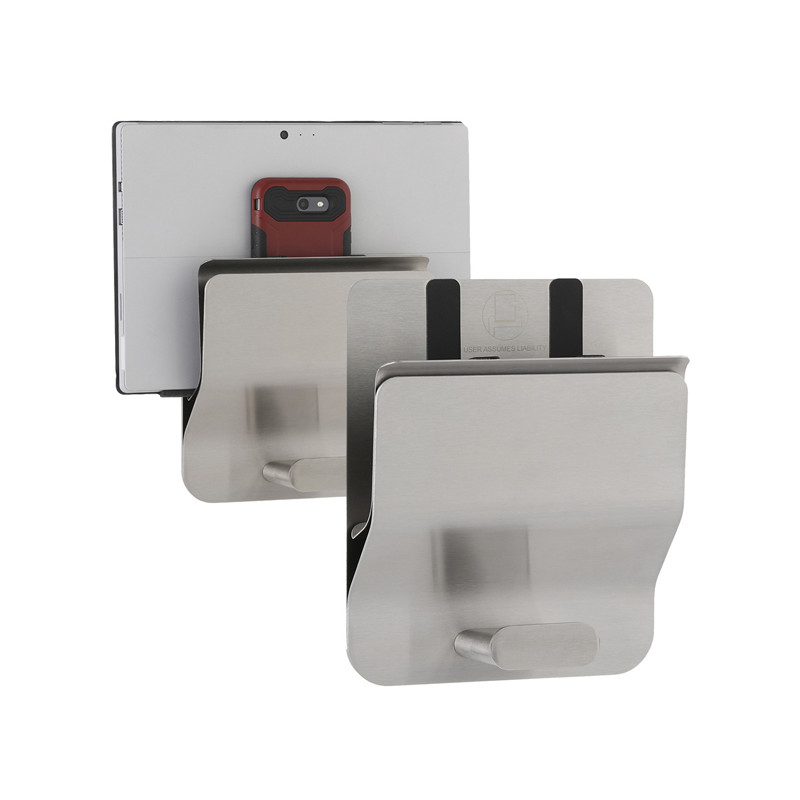 Photo Tablet computer or bag wall holder in stainless steel BO-635