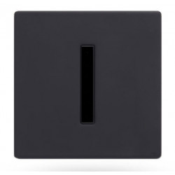 Electronic recessed urinal faucet in matte black
