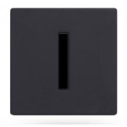 Robinet électronique urinoir encastré noir mat