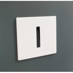Robinet électronique encastré urinoir façade blanche