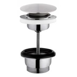 Basin or washbasin drain in matt brushed stainless steel