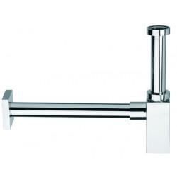 Siphon lavabo DESIGN carré chromé