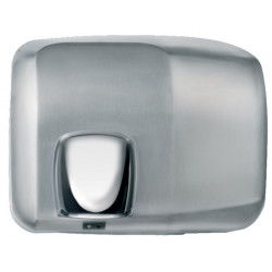 Sèche-mains inox avec buse orientable