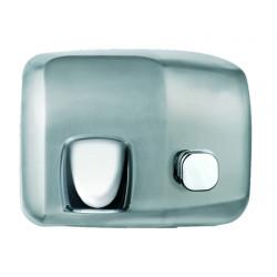 Sèche-mains inox bouton poussoir