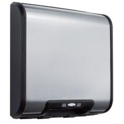 Secador de manos eléctrico compacto en acero inoxidable cepillado