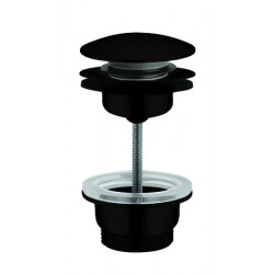 Waste trap for wash basins or vanity bowl matte black