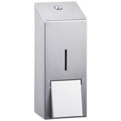 Wall mounted liquid soap dispenser stainless steel brushed