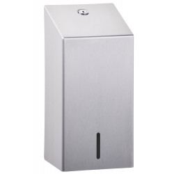 Flat paper dispenser WC brushed stainless steel