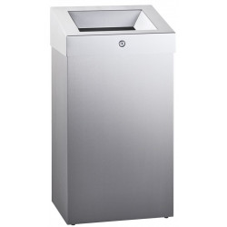 Grand capacity bin in stainless steel for collective facilities