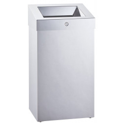 Miniature-2 Grand capacity bin in polished stainless steel for public spaces MKS-102
